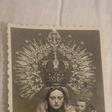 Fotografia antiga: ANTIGUA FOTOGRAFIA DE VIRGEN DE LA LUZ. PATRONA DE TARIFA CADIZ AÑOS 30,40?. Lote 195904686