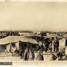 Fotografia antica: MILICIENS ESPAGNOLS AU CAMP DARGELES SUR MER GUERRA CIVIL CAMPO CONCENTRACION FRANCO 20*15CM PHOTO. Lote 195923932