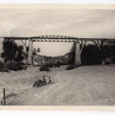 Fotografía antigua: FERROCARRIL.- ZAFRA.(BADAJOZ) A HUELVA. VIADUCTO MÚRTIGAS. 24X17. Lote 196012947