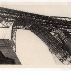 Fotografía antigua: FERROCARRIL.- ZAFRA.(BADAJOZ) A HUELVA. VIADUCTO MÚRTIGAS. CONSTRUCCIÓN. 24X17. Lote 196012981