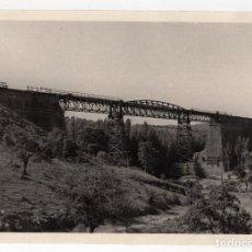 Fotografía antigua: FERROCARRIL.- ZAFRA.(BADAJOZ) A HUELVA. VIADUCTO MÚRTIGAS. 24X17. Lote 196013026