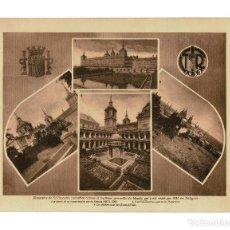 Fotografía antigua: MADRID.- MONASTERIO DEL ESCORIAL. LÁMINA 1932. REPÚBLICA.30X23,5. Lote 196068136