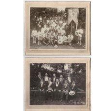Fotografía antigua: 2 FOTOGRAFÍAS. CONGREGACIÓN RELIGIOSA DE SAN ESTANISLAO.- JUNTA DIRECTIVA Y 1ª COMUNIÓN. 27X22 CADA.. Lote 196121187