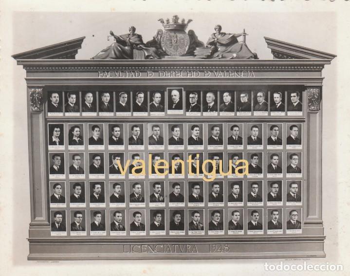 ANTIGUA FOTO DE ORLA UNIVERSITARIA. FACULTAD DE DERECHO DE VALENCIA, 1948 DERREY MD (Fotografía Antigua - Fotomecánica)
