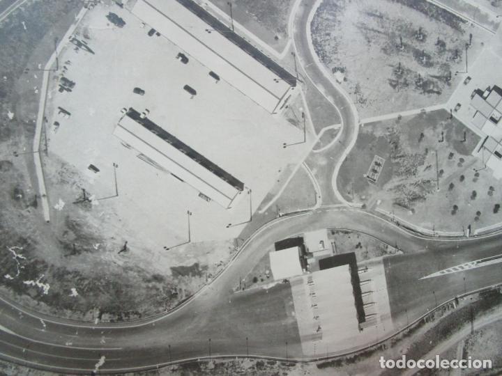 Fotografía antigua: Gran Fotografía Aérea - Cartografía - Peaje Montgat - Primera Autopista de Peaje de España -Año 1969 - Foto 4 - 197501882