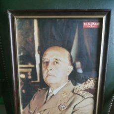 Fotografía antigua: FOTO ENMARCADA. FRANCO. EL ALCÁZAR. CONFEDERACIÓN NACIONAL DE COMBATIENTES. AÑOS 60. Lote 197649395