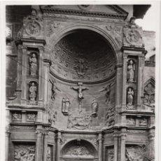 Fotografía antigua: VIANA.(NAVARRA).- PUERTA PRINCIPAL DE LA IGLESIA DE SANTA MARIA. 17,5X24.. Lote 198136001