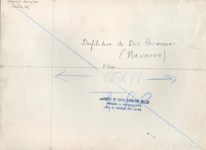 Fotografía antigua: NAVARRA.- DESFILADERO DE DOS HERMANAS. 18X24. - Foto 2 - 198137951