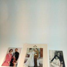 Fotografía antigua: INTERESANTE COLECCIÓN DE 3 FOTOGRAFÍAS DE D. JUAN CARLOS Y DOÑA SOFÍA. REYES DE ESPAÑA. FIRMADA.. Lote 198229531