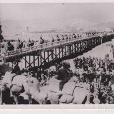 Fotografía antigua: YANTSEN BRUCKE SCHANSI PROVINZ KAMELE CAMEL SHANXI WW2 WORLD WAR. 18*13CM PRESS FOTO JAPON CHINE CH. Lote 199221652