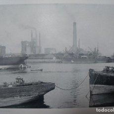 Fotografia antiga: BILBAO LOS ALTOS HORNOS DEL DESIERTO 1891 FOTOTIPIA HAUSER Y MENET 21,5 X 15,5 CMS . Lote 200060701