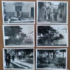 Fotografía antigua: SEIS FOTOS DE PINSEQUE (ZARAGOZA) AÑOS 60. Lote 201520316
