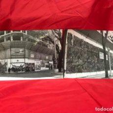 Fotografía antigua: ANTIGUA 2 FOTOS SAN SEBASTIAN EUSKADI STREET ART ARTE CALLE EDIFICIO ANDAMIOS CONSTRUCCION SORONDO. Lote 202073403