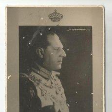 Fotografía antigua: ANTIGUA FOTO S.M. EL REY D. JUAN III DE ESPAÑA- TAMAÑO CARNET -CORONA Y FIRMA FOTOGRAFO. Lote 202939025