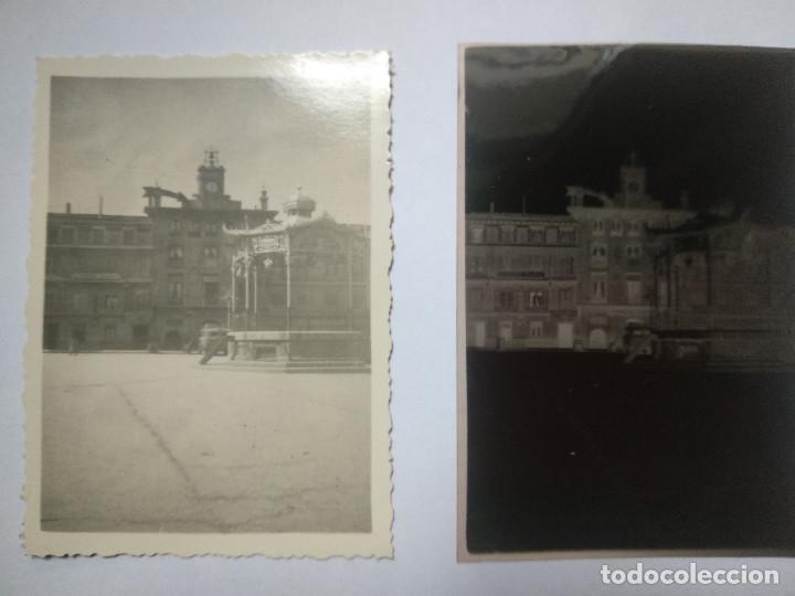 FOTOGRAFIA Y NEGATIVO. VISTA TUDELA, NAVARRA. AÑO 1941. (Fotografía Antigua - Fotomecánica)