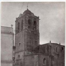 Fotografía antigua: SANTOS DE MAIMONA.(BADAJOZ).- IGLESIA PARROQUIAL NUESTRA SEÑORA DE LOS ÁNGELES. 12,5X9. Lote 204054443
