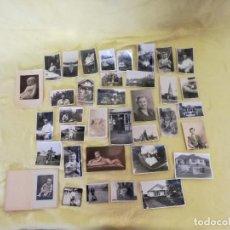 Fotografía antigua: LOTE DE 36 FOTOGRAFÍAS EN B/N VARIADAS, ANTIGUAS O VINTAGE. Lote 204667011
