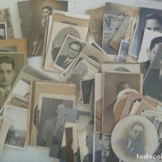 Fotografía antigua: LOTE DE 100 FOTOS RETRATOS DE HOMBRES , SIGLOS XIX Y XX , POSTALES , ETC. Lote 58558482