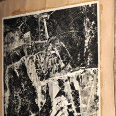 Fotografía antigua: FOTOGRAFIA AEREA DE LAS OBRAS DEL PANTANO DE SAU - HELMA, S.A. EMPRESA CONSTRUCTORA - AÑO 1954. Lote 205328726