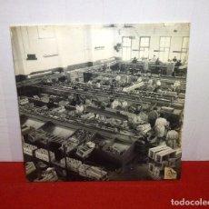 Fotografía antigua: FOTOGRAFIA GRANDE SOBRE MADERA. EN ALMACEN DE NARANJAS PEIRO CAMARO.47 X 46 CM.. Lote 205609201