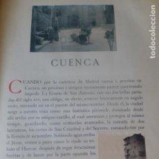 Fotografía antigua: CUENCA SEPARATA CON FOTOGRABADOS POR EL CONDE DE LA VENTOSA. Lote 205763398
