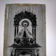 Fotografía antigua: ANTIGUO CLICHÉ DE NUESTRA SEÑORA BIEN APARECIDA PATRONA DE LA MONTAÑA SANTANDER NEGATIVO EN CRISTAL. Lote 205848165