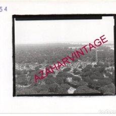 Fotografía antigua: PUNTA UMBRIA, ANTIGUA FOTOGRAFIA,VISTA AEREA PINARES, PAISAJES ESPAÑOLES,128X178MM. Lote 206170303