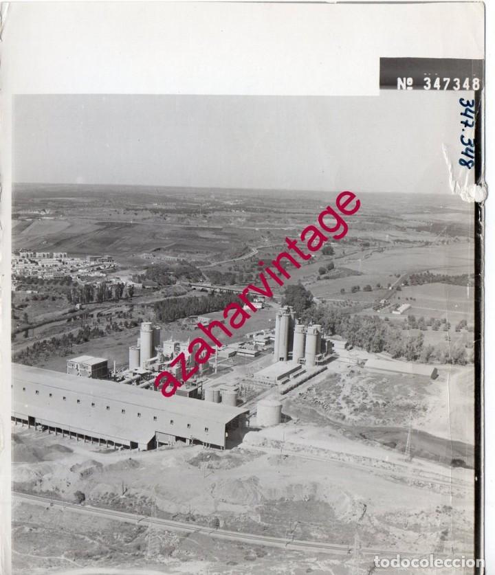 NIEBLA, HUELVA, ANTIGUA FOTOGRAFIA,VISTA AEREA CEMENTOS ASLAND PAISAJES ESPAÑOLES,128X178MM (Fotografía Antigua - Fotomecánica)