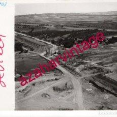 Fotografía antigua: NIEBLA,HUELVA, ANTIGUA FOTOGRAFIA,VISTA AEREA,CONSTRUCCION PUENTE, PAISAJES ESPAÑOLES,128X178MM. Lote 206313993