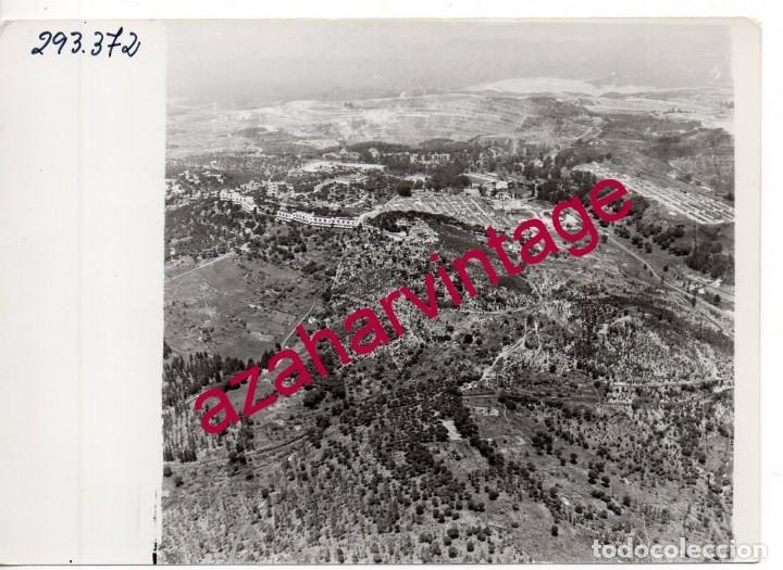 HUELVA, ANTIGUA FOTOGRAFIA VISTA AEREA MINAS DE RIO TINTO , PAISAJES ESPAÑOLES,128X178MM (Fotografía Antigua - Fotomecánica)