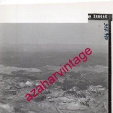 Fotografía antigua: HUELVA, ANTIGUA FOTOGRAFIA VISTA AEREA MINAS DE RIO TINTO , PAISAJES ESPAÑOLES,128X178MM. Lote 206372583