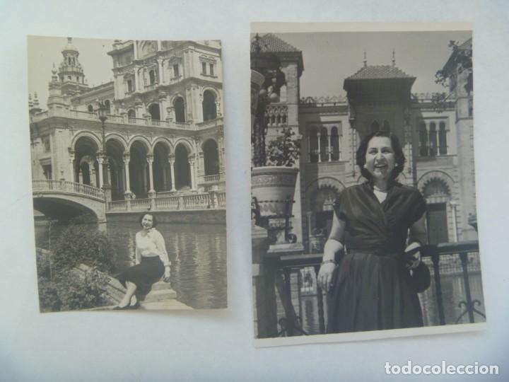 LOTE DE 2 MINUTEROS DEL FOTOGRAFO DEL PARQUE DE MARIA LUISA DE SEVILLA : MUJER POSANDO (Fotografía Antigua - Fotomecánica)