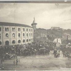 Fotografía antigua: FOTOGRAFÍA PLAZA DE TOROS DE SAN SEBASTIÁN Y PARTE DE LA CIUDAD - EL CHOFRE - PRINCIPIOS SIGLO XX. Lote 206432712