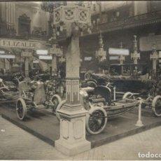 Fotografía antigua: FOTOGRAFÍA SALÓN DEL AUTOMÓVIL DE BARCELONA - STAND DE ELIZALDE - AÑO 1919 - FOTO J. SAGARRA. Lote 206436041