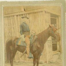 Fotografia antiga: GUERRA HISPANOAMERICANA. FILIPINAS FOTO MILITAR USA A CABALLO. MANILA HACIA 1899. GRAN TAMAÑO.. Lote 206576673