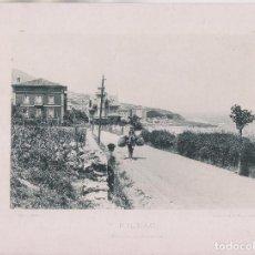 Fotografía antigua: FOTOTIPIA. BILBAO. ENTRADA DE SANTURCE. 1892. HAUSER Y MENET. 29,5 X 21,5 CM.. Lote 206587448