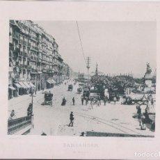 Fotografía antigua: FOTOTIPIA. SANTANDER. EL MUELLE. 1892. HAUSER Y MENET. 29,5 X 21,5 CM.. Lote 206587701