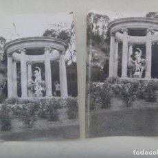 Fotografía antigua: LOTE DE 2 FOTOS DE JOVENES EN UN PARQUE. Lote 206587822