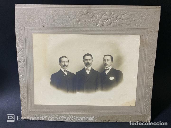 ANTIGUA FOTOGRAFIA DE EPIFANIO DIAZ Y RODRIGUEZ DE CANAL Y GONZALEZ ROMERO, 1908. VER (Fotografía Antigua - Fotomecánica)