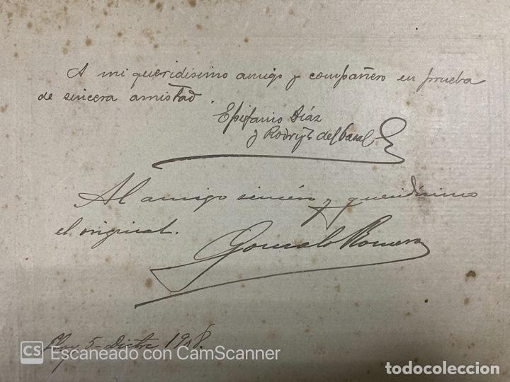 Fotografía antigua: ANTIGUA FOTOGRAFIA DE EPIFANIO DIAZ Y RODRIGUEZ DE CANAL Y GONZALEZ ROMERO, 1908. VER - Foto 3 - 209998250