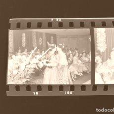 Fotografía antigua: VALENCIA - FALLAS - 6 CLICHES NEGATIVOS DE 35 MM EN CELULOIDE - AÑOS 1970. Lote 210558153