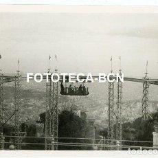 Fotografia antica: FOTO ORIGINAL BARCELONA PARQUE ATRACCIONES TIBIDABO MONORRAIL AÑO 1958. Lote 210633516