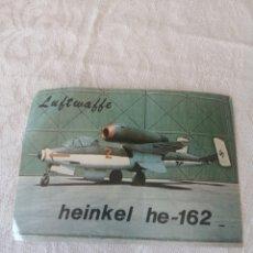 Fotografía antigua: FOTOGRAFÍA /PEGATINA. LUFTWAFFE HEINKEL HE-162. EL AVIÓN A REACCIÓN DE HITLER.. Lote 210740585
