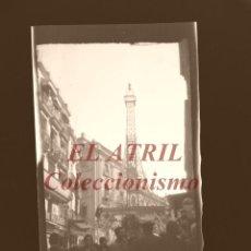 Fotografía antigua: VALENCIA - FALLAS TORRE EIFFEL - CLICHE NEGATIVO EN CELULOIDE - AÑOS 1960. Lote 210775032