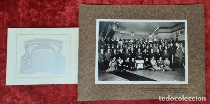 FOTOGRAFÍA GRUPAL DE LA VACUUM OIL COMPANY. CONSEJO DE ADMINISTRACION. 1934. (Fotografía Antigua - Fotomecánica)