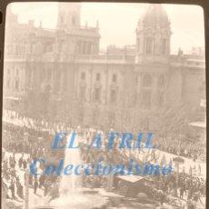 Fotografía antigua: VALENCIA - FALLAS - CLICHE NEGATIVO DE 35 MM EN CELULOIDE - AÑOS 1954-55. Lote 211389371