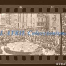 Fotografía antigua: VALENCIA - FALLAS - 6 CLICHES NEGATIVOS DE 35 MM EN CELULOIDE - AÑO 1976-78. Lote 211657674