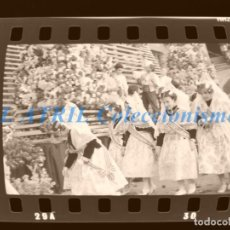 Fotografía antigua: VALENCIA - FALLAS - 4 CLICHES NEGATIVOS DE 35 MM EN CELULOIDE - AÑOS 1970. Lote 211658589