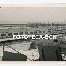 Fotografía antigua: FOTO ORIGINAL ARENYS DE MAR VISTA DEL PUERTO AÑO 1958. Lote 211696229