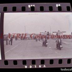 Fotografía antigua: VALENCIA POLICIA MUNICIPAL MOTOS, AV DE LA PLATA, 6 CLICHES NEGATIVOS DE 35 MM EN CELULOIDE AÑO 1979. Lote 211802616